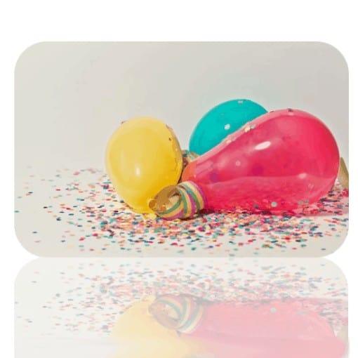 tarjeta regalo globos